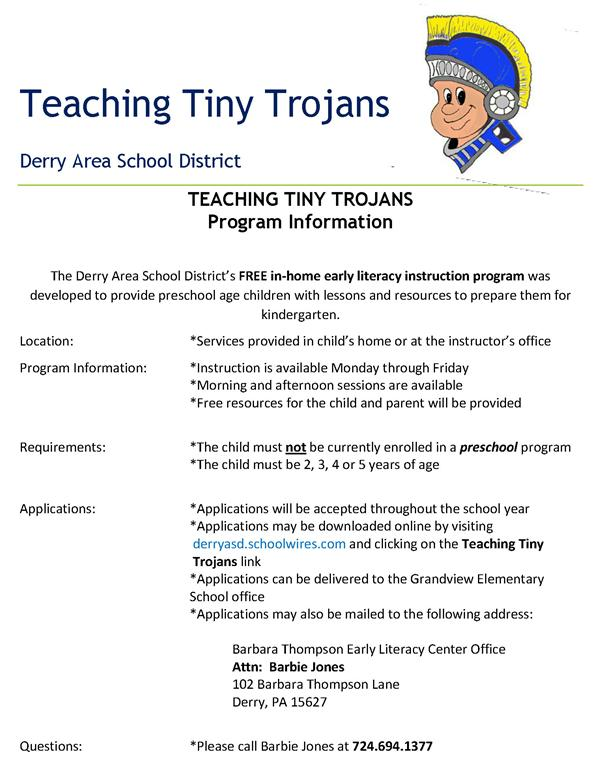 TEACHING TINY TROJANS PROGRAM INFO.