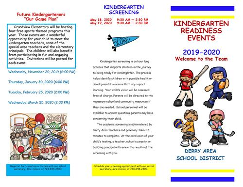 K readiness Events page 1