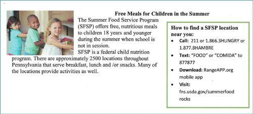 Summer Food Program
