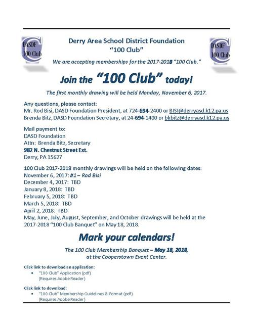 100 Club Foundation Infromation